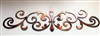 "Ornamental Fleur de Lis Scroll Metal Accent 12"" wide"
