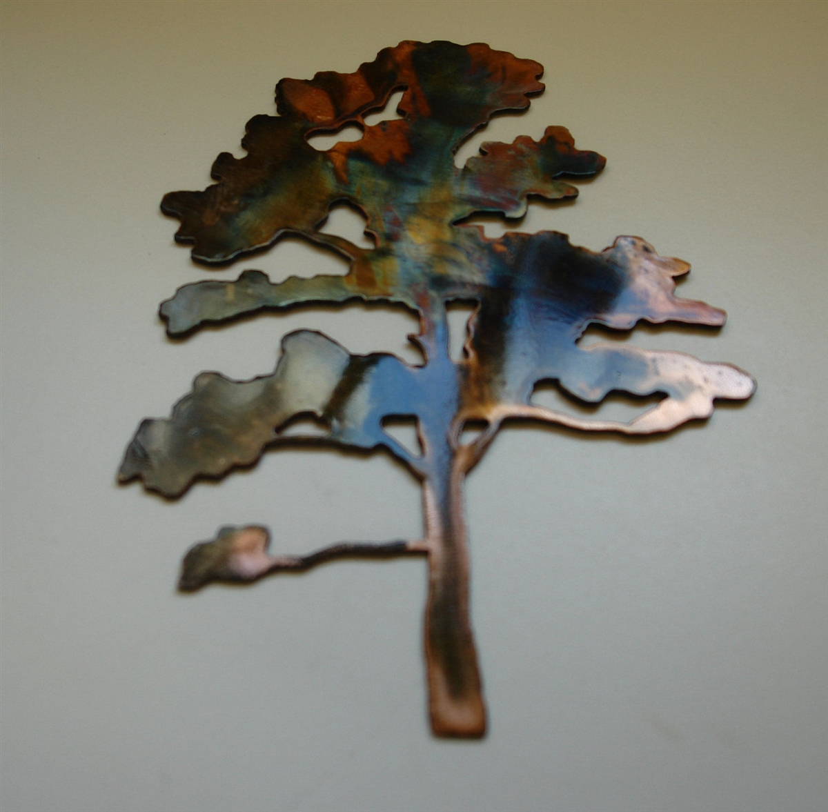 METAL OAK LEAVES 6  COPPER//BRONZE PLATED BY HGMW