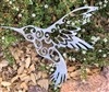 Ornamental Humming Bird Metal Decor