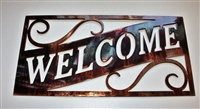 Ornamental Welcome Metal Wall Art