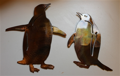 Penguin Pair Metal Wall Art