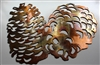 Pine Cones Metal Art Accents
