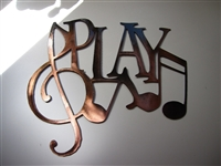 Play w/ Music Notes Metal Wall Art