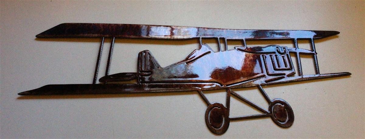 biwing metal wall art airplane