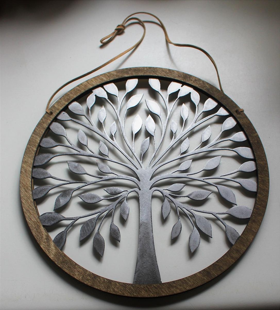 Wood Metal Tree Of Life Wall Decor