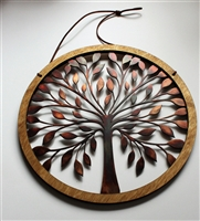 Wood & Metal Tree of Life Wall Decor