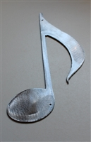 "Musical Note Metal Wall Decor 7 3/4"" tall"