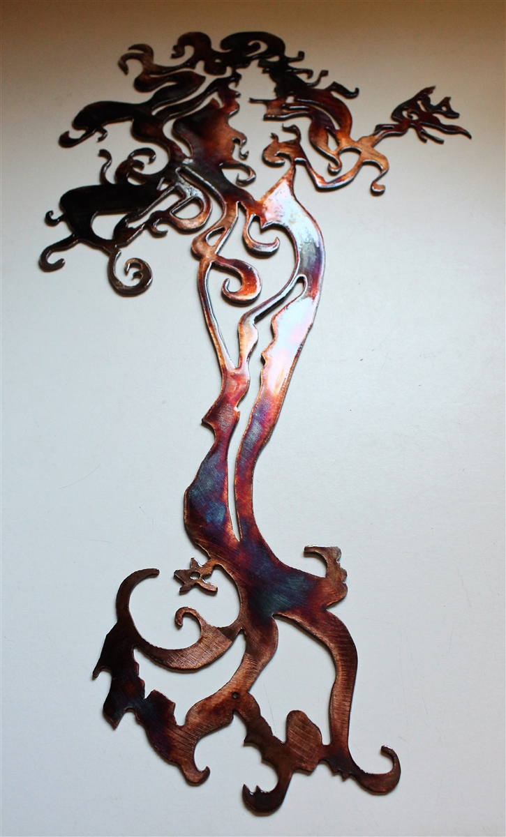 Tall Metal Wall Art Mermaid Metal Art