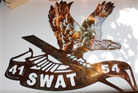 Special Order Request LAPD SWAT Metal Art  2 piece set