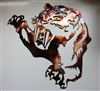 Saber tooth metal wall art decor