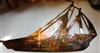 Nautical SAILING WALL ART DECOR copper/bronze plated
