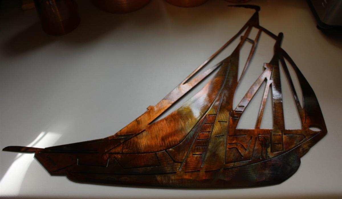 Sailboat Wall Art sailboat, sailing metal wall art
