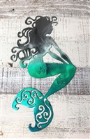 Sitting Mermaid Metal Wall Art