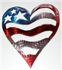 Patriotic Heart Metal Wall Art