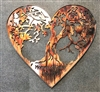Heart Shaped tree of life metal wall art