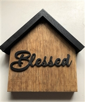 Small House Wood Decor Home  Blessed Tiered Tray