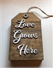 Love Grows Here Wooden Tag Tiered Tray Shelf Accent