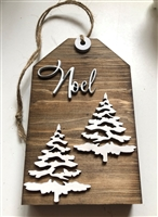 Noel Tiered Tray Tag Shelf Sign