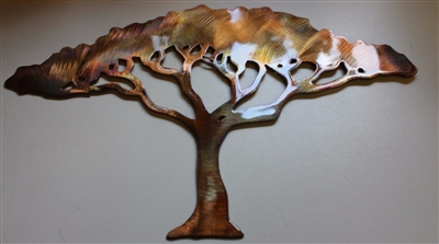 Acacia Metal Wall Art Tree