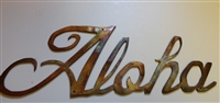 'Aloha' Metal Wall Art Decor Copper/Bronze