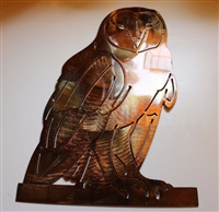 Barn Owl Metal Wall Art