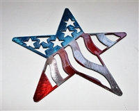 Patriotic Star Metal Wall Art