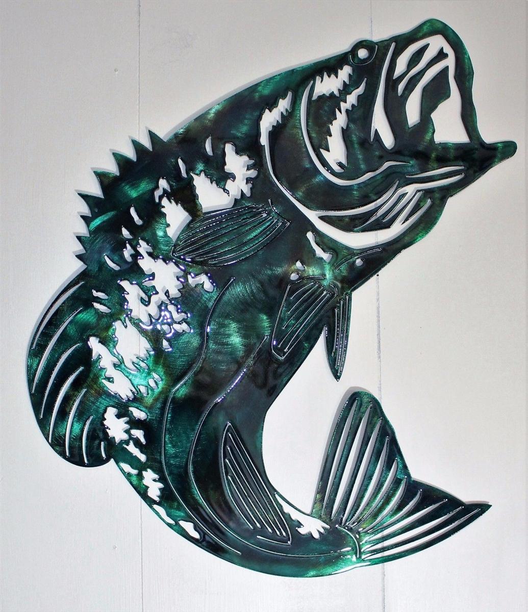 Bass Fish Metal Wall Art