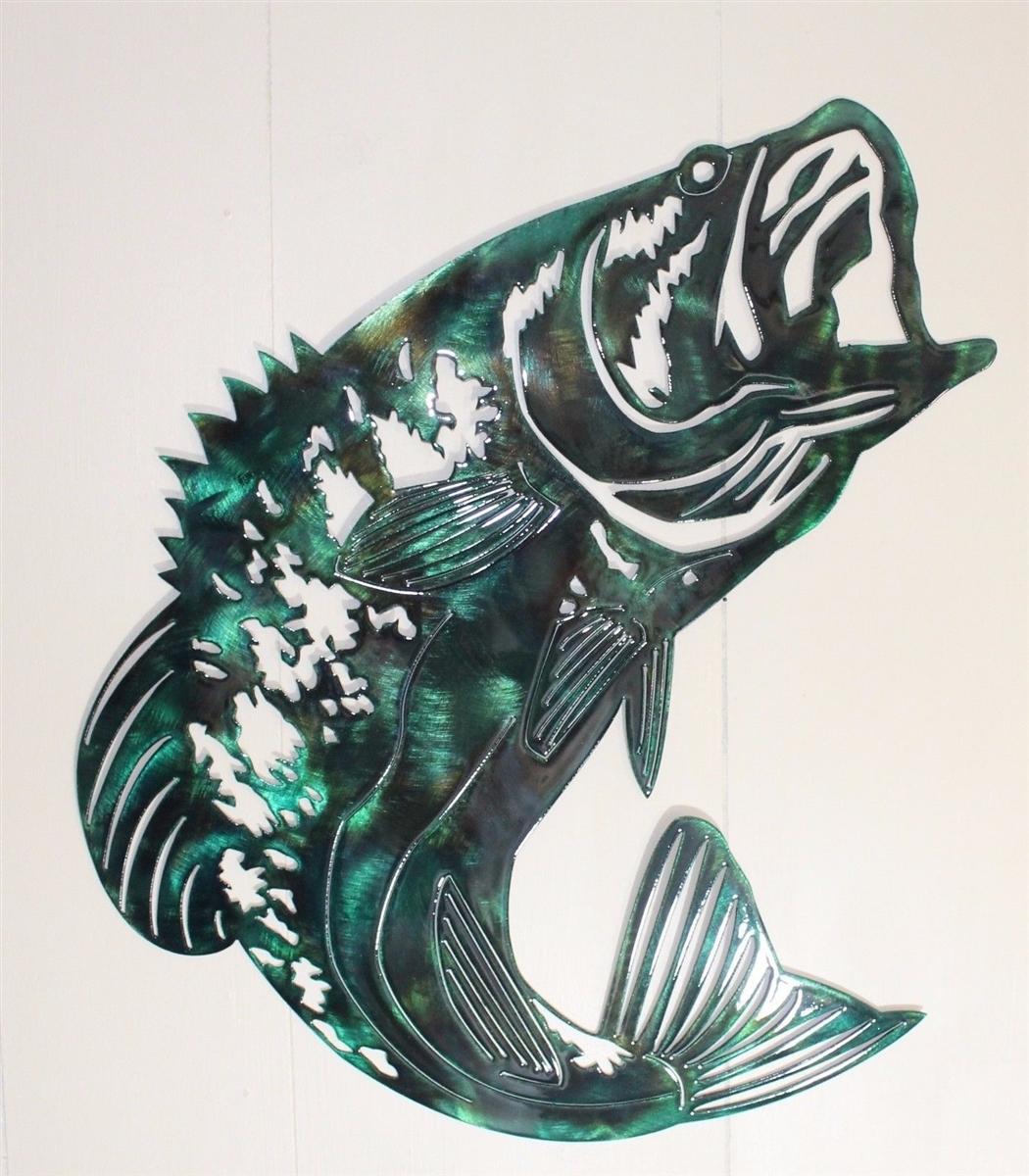 metal fish art wall decor.htm bass fish metal wall art  bass fish metal wall art
