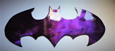 Batman Metal Wall Art Purple