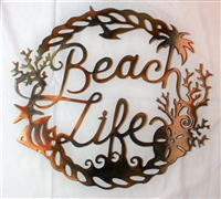 Beach Life Metal Wall Art Accent