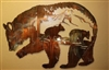 Bears in the Mountain Metal Wall Art