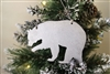 Rustic Metal Art Bear Ornament