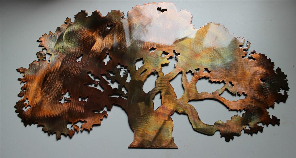 The Big Oak Tree Metal Wall Art Decor