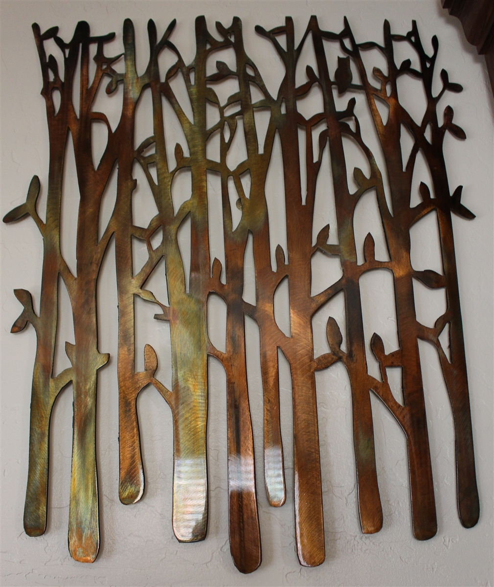 Bon Birch Tree Metal Wall Art
