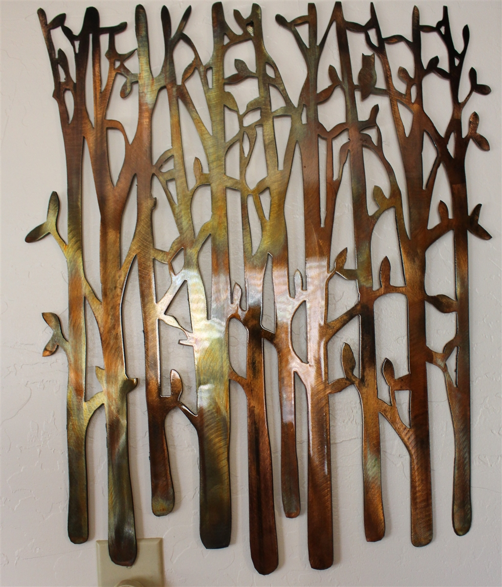 Birch Tree Metal Wall Art & Birch Tree Birch Tree Metal Art Bamboo Bird in the Trees Bird on ...