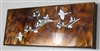 Metal Art Canvas- Birds a Flying  Copper/Bronze