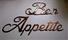Bon Appetite Metal Word Art Decor Copper/Bronze Plated