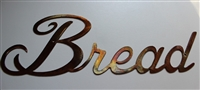 """Bread"" Metal Word Art Decor"