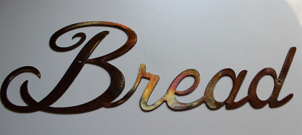 Quot Bread Quot Metal Word Art Decor