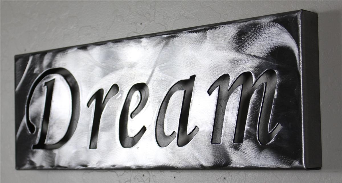 Metal Wall Art Canvas Dream Silver