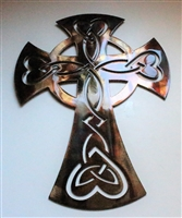 Celtic Metal Art Copper/Bronze Cross