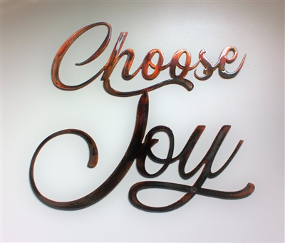 Choose Joy Metal Wall Art accent