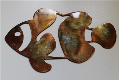 Clownfish Metal Wall Art