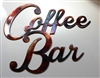 Coffee Bar Metal Wall Art Sign