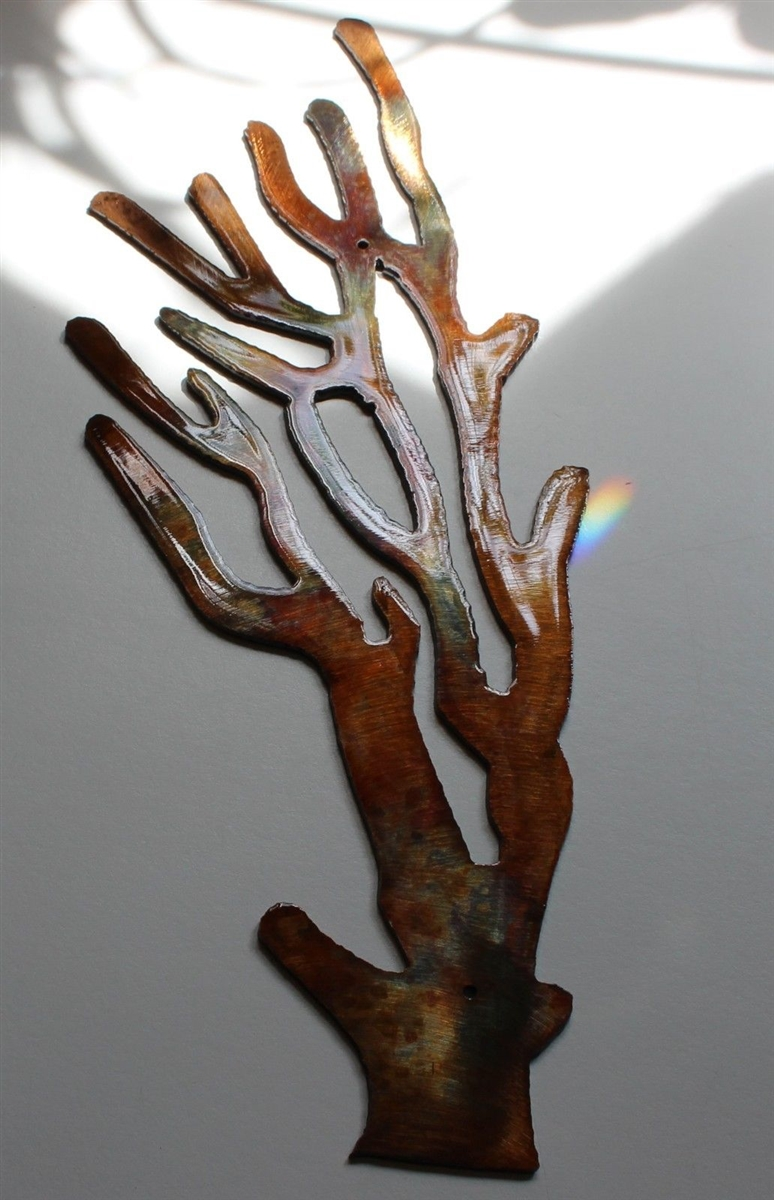 Coral Branch Metal Art