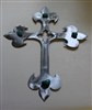 Turquoise & Steel Metal Art Cross