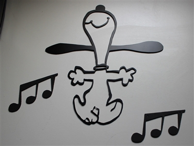 Dancing Snoopy Metal Art