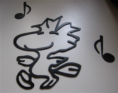 Dancing Woodstock Metal Wall Art Decor