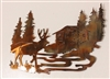 Deer Cabin Metal Wall Art