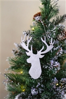 Rustic Metal Art Deer Ornament